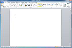 Create a new document in MS Word.